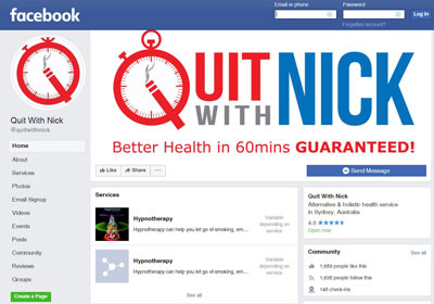 facebook-quit-with-nick Hypnotherapy Sydney Quit Smoking | QuitWithNick